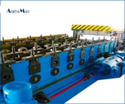 Cable bridge cover forming production line