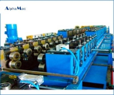 Trough type cable bridge forming production line
