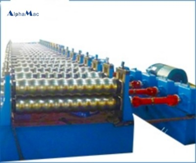 Culvert corrugated forming production line